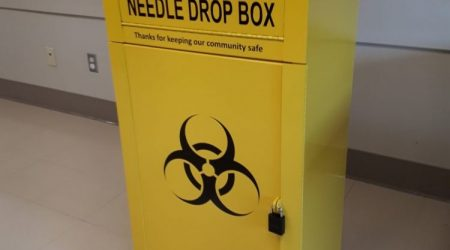 Yellow Sharps Disposal Unit